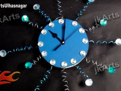 DIY Designer Wall Clock | How to Make | JK Arts  483