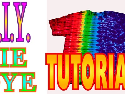 DIY Tie Dye Rainbow Fan Fold shirt [Short Tutorial]