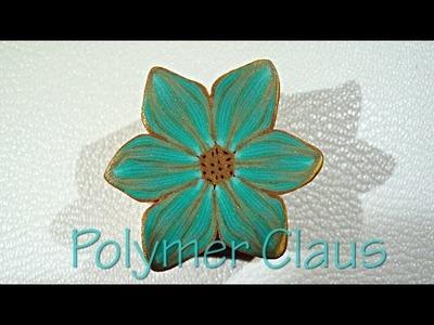(English sub) Tropical Color Millefiori cane (polymer clay tutorial - fimo tutorial)