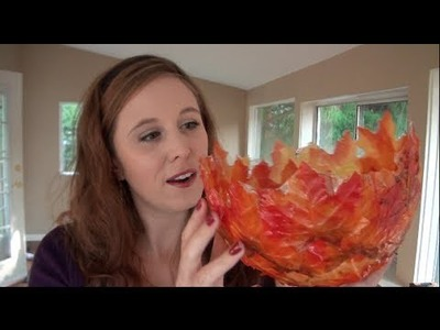 Fall Leaf Bowl Tutorial