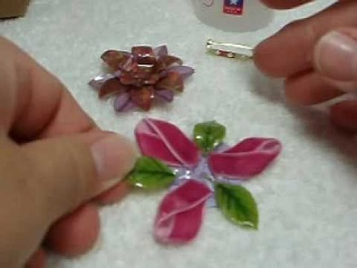 Faux Glass Flower Pin Tutorial by: Trudy Sjolander
