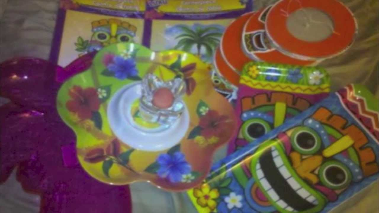 Fun Hawaiian Luau Party Supplies and Decorations From Kids Invitations to Theme Food Ideas
