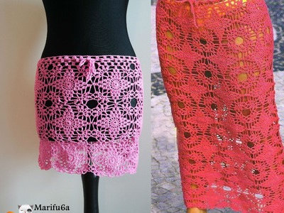 How to crochet mini midi maxi skirt all sizes faldas al crochet free tutorial pattern by marifu6a