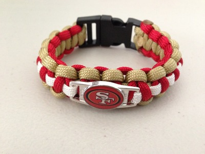 How to make a Cobra weave Paracord bracelet with a charm
