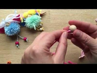How to Make a Pom Pom Fairy Decoration or Toy