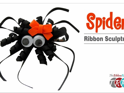 How to Make a Spider Ribbon Sculpture - TheRibbonRetreat.com