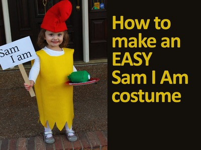 How to Make an Easy Dr. Seuss Sam I Am Costume