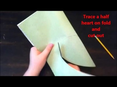 How to make an envelope from a paper heart shape