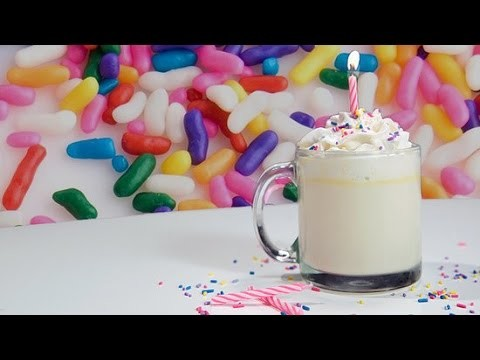 How to Make Birthday Cake Hot Chocolate With Sprinkles!