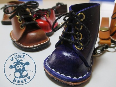 How To Make Mini Leather Boots. Shoes