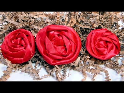 How To Make Rolled Ribbon Roses (2 ways!)