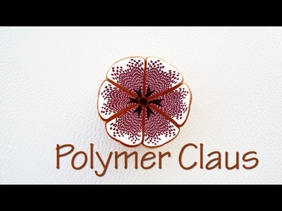 Mosaic millefiori can-Polymer clay tutorial eng sub (Fimo tutorial)