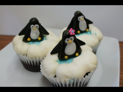 Penguin Cupcakes - Cupcake decorating