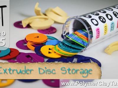 Polymer Clay Extruder Disk Storage Ideas