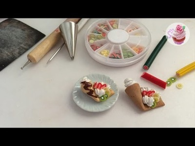 Polymer clay tutorial: Fruit crepe