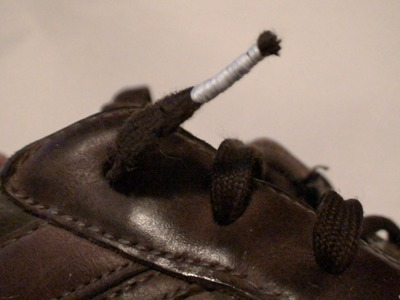 Repairing your Shoelaces with Floss. and Fire!