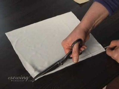 Sewing Makeup Bag - Cutting and Fusing Interfacing (FREE SAMPLE)