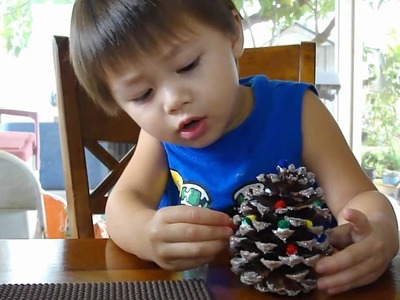 We're Making (Pine cone) Christmas Trees