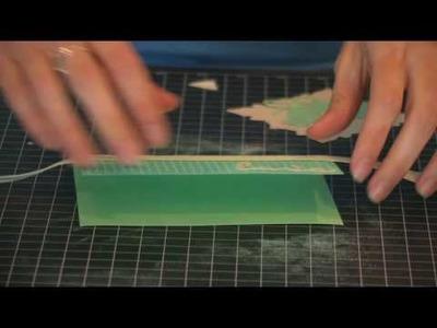 Wedding Card (Step 3) - Using the Swiss Dots Cuttlebug A2 Embossing Folder