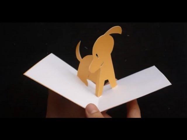 3D Cute Puppy Pop Up Card Tutorial