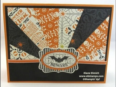 A Great Halloween Greeting Card Using The Sunburst Technique