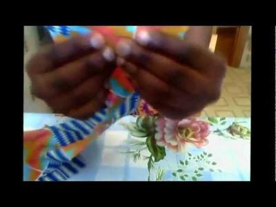 African print earrings (tutorial)