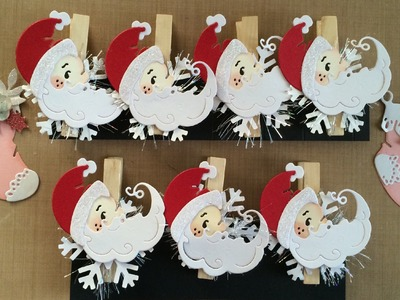 Altered Clothespin for Christmas and Christmas Tags for Your Gift Bags