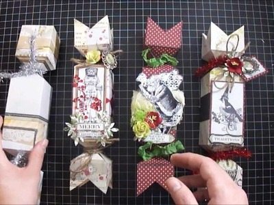 Christmas Candy Treat Boxes - Tutorial