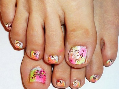 """Date Night Nails - Part 2- """"Toe Nail Design"""" collaboration with Love4nails"""