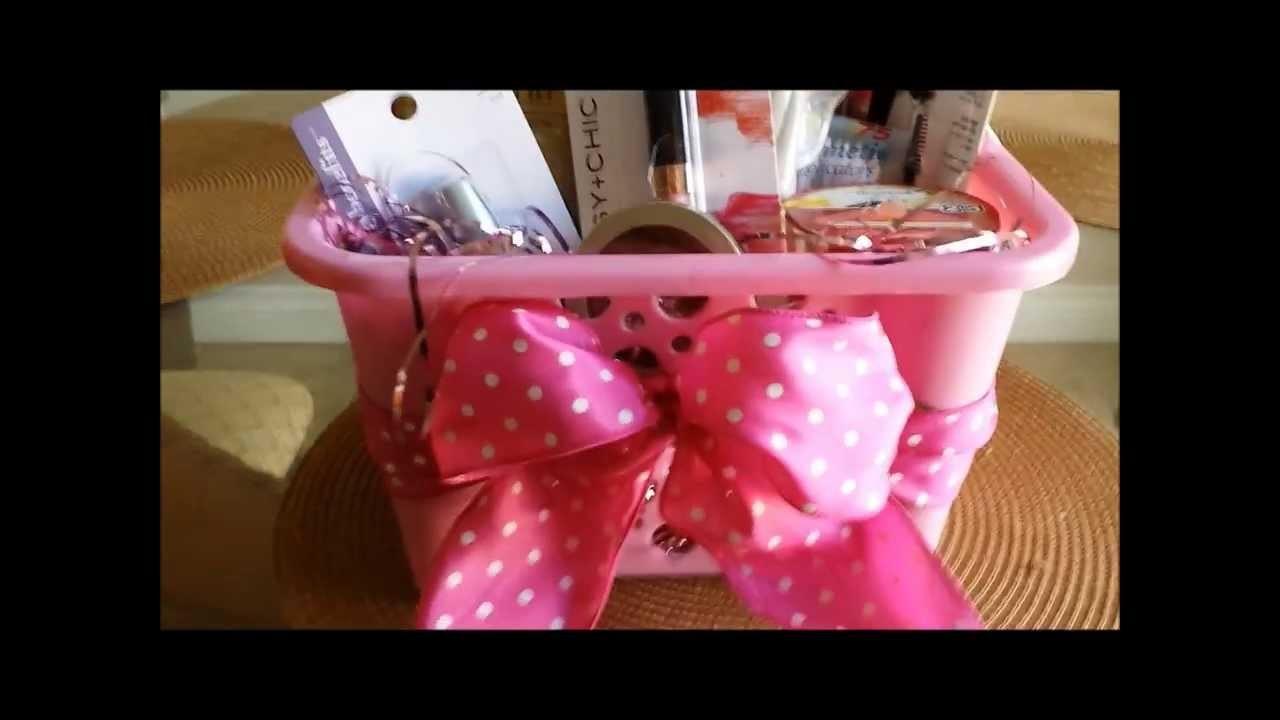 Dollar tree haul and cute gift basket.