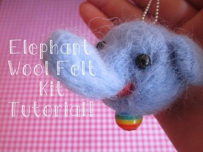 ♡ Elephant Wool Felt Daiso Kit Tutorial [Sweetorials Audition] ♡