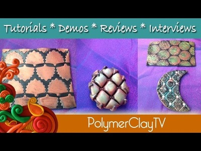 Embossing Stamp and Punchinella with Polymer Clay on Polymer Clay TV