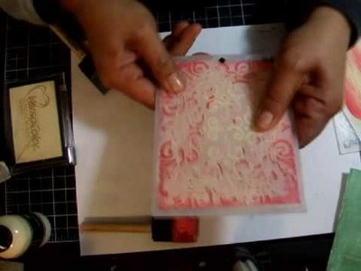 Embossing with Acrylic Paint