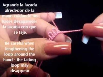 Frivolite-Tatting lesson 111 - Loop-Tatted Ring