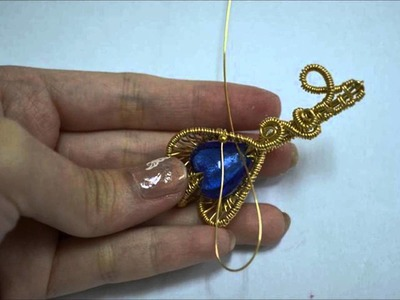 Heart Key Wire Wrapped Pendant Time Lapse Process Video Tutorial