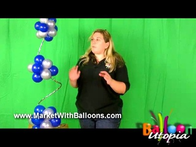 How To Make a Balloon Spiral Topiary Centerpiece- San Diego