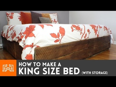 How to make a king size bed (with storage)