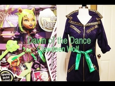 How to make a Monster High Clawdeen Wolf Dawn of the Dance Costume