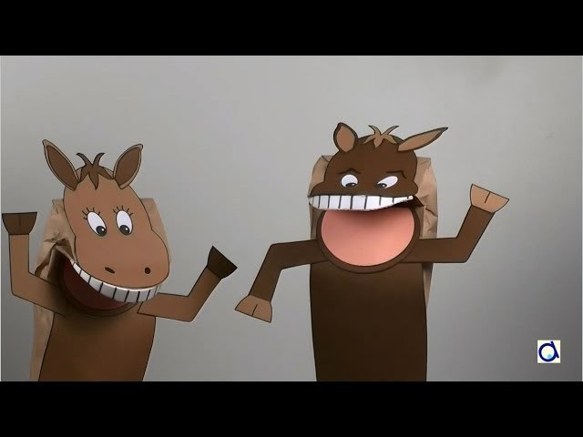 How to make a paper bag horse puppet