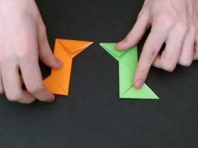 How To Make A Paper Ninja Star (Shuriken)