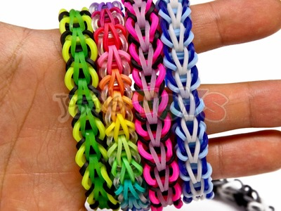 How to Make a Rainbow Loom Tribal Fishtail Bracelet - EASY