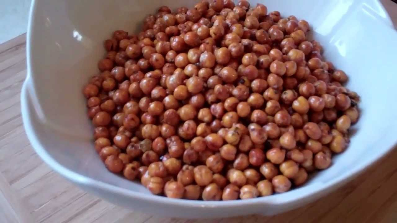How To Make A Spicy Fried Channa Snack.
