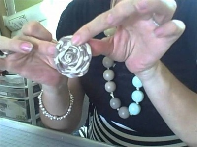 How to Make Fabric Rosette Flowers - TatertotsandJello.com