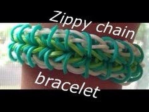 How to make the zippy chain rainbow loom bracelet