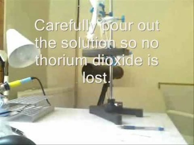 How to make thorium dioxide