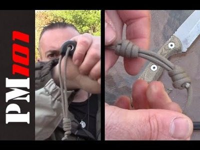 How To: Sliding Necklace Knot. Adjustable Knife Lanyard  - Preparedmind101