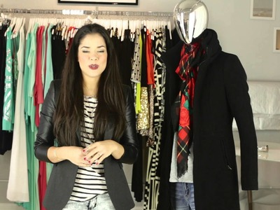 How to Tie a Coat Scarf : Accessories & Style