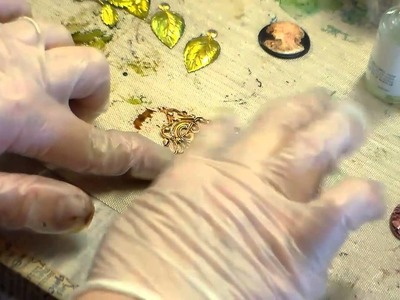 Jewelry Making, Alcohol Inks and Brass Stampings, Easy Ideas for a Pop Of Color from B'sue