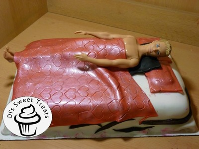 Ken Doll in Bed Cake- Bachelorette Cake- Di's Sweet Treats