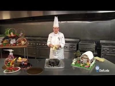 Learn how to make and professionally decorate chocolate flourless cake